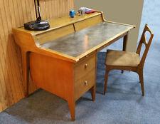 Vintage 1957 Mid Century Modern DREXEL Profile DESK & Chair by John Van Koert