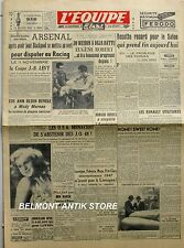 Journal l'Equipe n°485 - 1947 - Le rugby anglais - Marcel Cerdan - Jo Weidin -