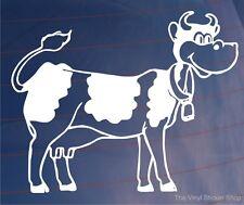 CARTOON COW Novelty Girly Car/Van/Bumper Bedroom Door/Wall Vinyl Sticker/Decal