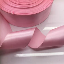 "New 5 Yards 50mm 2""  Pink Satin Ribbon Multi-Purposes Wedding Party Craft"