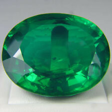 TWO pcs - 0.5 Carat Russian Sim Diamond OVAL CUT 6 x 4 mm Emerald green
