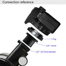 R6H1 T2 Ring for Canon EOS Camera Lens Adapter + 1.25 Telescope Mount Adapter
