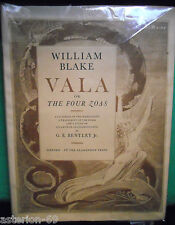 WILLIAM BLAKE VALA OR THE FOUR ZOAS 1963 FACSIMILE MANUSCRIT 1797  MANUSCRIPT