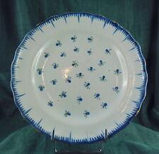 ASSIETTE FAÏENCE XVIII é bordure peignée decor aux fleurettes bleues