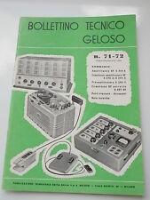 BOLLETTINO TECNICO GELOSO_1958 n.71-72_Amplificatore BF G 280 A_276_279_G 290