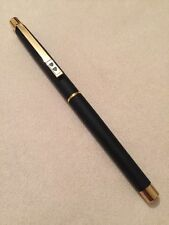 PAPERMATE BLACK & GOLD FOUNTAIN PEN NEW IN BOX M PT MADE IN GERMANY MADE IN 8O'S