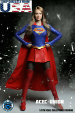 "1/6 SUPERGIRL Head Sculpt Suit Set For 12"" Phicen Hot Toys Female U.S.A. SELLER"