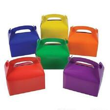 24 ASSORTED COLOR TREAT BOXES Birthday Party Loot Goody Bags #SR50 FREE SHIPPING