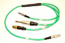 "TIME CODE CABLE INPUT OUTPUT LEMO 5 PIN MALE IN & OUT BNC, 1/4"" OUT LEMO IN OUT"