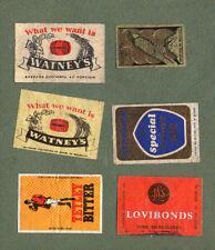 VERY OLD Belgium match box labels Belgian matchbox #929