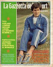rivista LA GAZZETTA DELLO SPORT ILLUSTRATA ANNO 1981 N. 38 GAETANO SCIREA