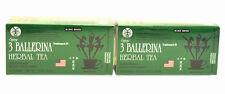 Two BOXES OF 3 Ballerina Herbal slimming Tea Dieters' Drink 36 Tea Bags in Total