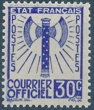"FRANCE STAMP TIMBRE DE SERVICE N° 2 "" FRANCISQUE 30c OUTREMER 1943 "" NEUF xx TTB"