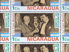 Nicaragua 1974 World Cup Football 1c MNH Full Complete Sheet 1C-1C #s342