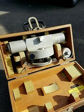 K & E Carl Zeiss Ni 2 Surveying Level Transit Theodolite w/Wood Case Ni2