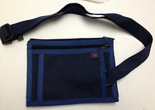 Money Belt Passport Travel Ticket Security Waist Pouch Blue North West Airlines
