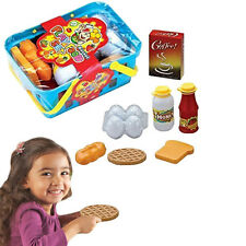 Dazzling Toys 10 Pc Pretend Play Food Basket Set Kids Breakfast Lunch Dinner Toy