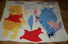 Preprinted Fabric Basic Pooh and Tigger Door Hangings To Cut Out & Sew
