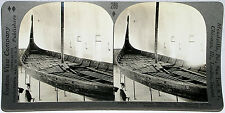 Keystone Stereoview of VIKING SHIP, Bygdo Museum, NORWAY From 600/1200 Card Set