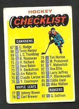 1965-66  TOPPS # 121 CHECKLIST MARKED  VG-  CONDITION INV 0502