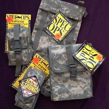 SPEC-OPS SET HUMP, DUMP, X-2 & X-4 UTILITY POUCH AIRSOFT PAINTBALL SHOOTING BNWT