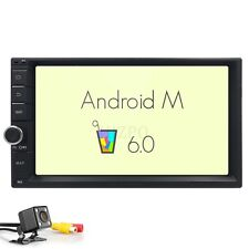 "Quad-Core Head Unit 2Din 7""Android 6.0 Car Stereo GPS Radio iPod USB SD+Camera"