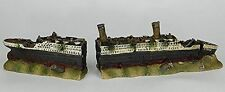 59cm 2 part RMS Titanic Ship Aquarium Ornament fish tank hide cave wreck wreck