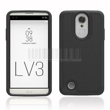 Armor Shockproof Hybrid Rubber Hard Phone Case Cover For LG Aristo LV3 MS210