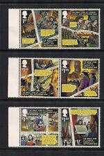 2016 GB QEII GREAT FIRE OF LONDON COMMEMORATIVE STAMP PAIRS AND LHS GUTTER MNH