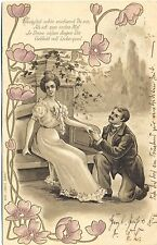 Mann, Frau, Liebespaar, Jugendstil AK, Prägekarte, 1902