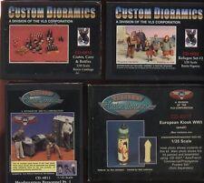 Custom Dioramics 1/35 WWII lot set 4 Resin model Kits; Refugees,Headquartrs,etc