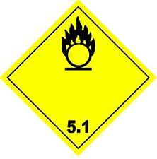 4St. Gefahrgut -Aufkleber 2cm x 2cm für Tauchflaschen Gefahrgutklasse 5.1