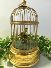 A BEAUTIFUL VINTAGE REUGE SINGING BIRD CAGE MUSIC BOX CLOCKWORK AUTOMATON