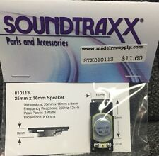 Soundtraxx 810113 Small Oval Speaker 16x35mm   AUTHORIZED DEALER - modelrrsupply