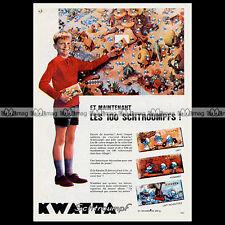 KWATTA Chocolat SCHTROUMPF SMURF PUFFI PITUFOS Peyo 1965 Pub Publicité Ad #A1281