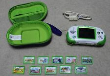 Lot of LeapFrog Leapster Explorer Game System with 10 Games and Case