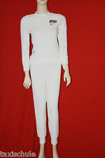 Neu Original 70er Jahre Frottee Stretch Schlafanzug Pyama Set Gr.36 Weiß Vintage