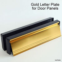 "10"" GOLD / BRASS Letter Plate Stainless Steel Door box upvc silver handle PAN"