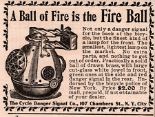 1897 AD CYCLE DANGER SIGNAL FIRE BALL BRASS GLASS NY POLICE LAMP LIGHT