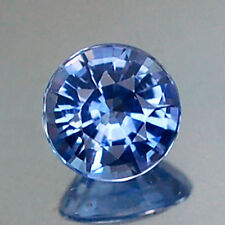 SPARKLING VVS ROUND 4.8MM HEATED ONLY BLUE CEYLON SAPPHIRE