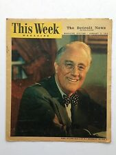 This Week Magazine January 21, 1945 Detroit News Home Newspaper