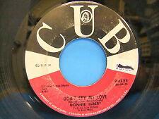 """Donnie Elbert Don't Cry My Love / Love Stew 1963 7"""" 45 Single Record Cub K 9125"""