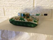 Wind up Tin Litho Sherman Tank Toy Rotating Turret.New in Box