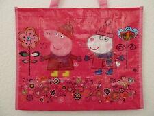 NEU Peppa Pig Tasche Mädchen Einkaufstasche Kinder rosa pink Shopper Polyester