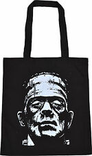 FRANKENSTEINS MONSTER BLACK COTTON TOTE BAG BORIS KARLOFF VINTAGE HORROR B-MOVIE