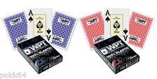 2 Jeux de 52 cartes POKER FOURNIER WPT 100% plastique Bleu et Rouge Jumbo 420970
