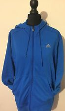 ADIDAS SPORT BLUE VINTAGE RETRO HOODIE JUMPER SWEATER UK M