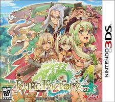 Rune Factory 4 (Nintendo 3DS Adventure RPG Farming Dungeon Magic Mystery) NEW