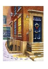 ABERCORN WAY STREET SCENE IN SNOW A4 PAINTING PAINT BY NUMBERS & BRUSH PJS72