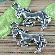 25pcs Tibetan silver color little running horse charms EF0339